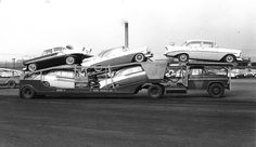 1956 Chev - Racing Champions did a 1956 Nomad - This shot shows both small (standard) and large (deluxe) wheel covers on the cars