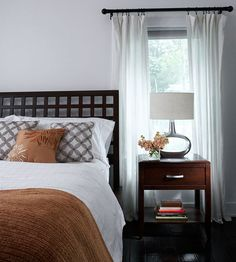 Headboard Geometry -- like the clean lines and the repeat on the diagonal print