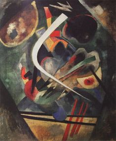 Painter Wassily Kandinsky. White line. 1920