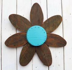 FREE SHIPPING Spring Flower Wreath  Barn Wood by SouvenirFarm, $99.00
