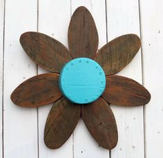 Barn Wood Wall Decor | Outdoor Rustic Decor | Wood Flower Wreath |choose Your…
