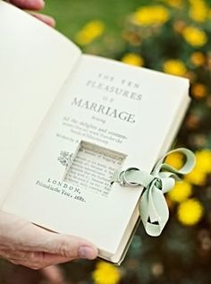 How To Have The Best Literary Wedding Ever. I want my husband to propose with a ring hidden in a book <3