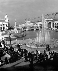 Electric and Columbia Fountains and Manufactures and Liberal Arts Buildings; 1893 Columbian Exposition World's Fair Copyright 2005 David R. Chicago School, Chicago City, Chicago Illinois, Chicago Area, Cleveland Ohio, Best Vacation Destinations, Best Vacations, Photos For Sale, Old Photos