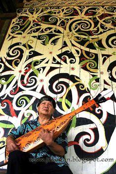 Sarawak Cultural Village - The Orang Ulu mural