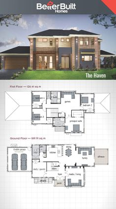 The Haven: Double Storey House Design #BetterBuilt #floorplans