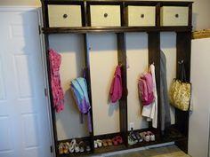 "Our Hamilton Home: Diy bins and mud room ""lockers!"""