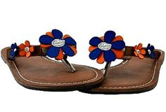 Orange  Blue Flower Sandals | Ilene's Gator Store -