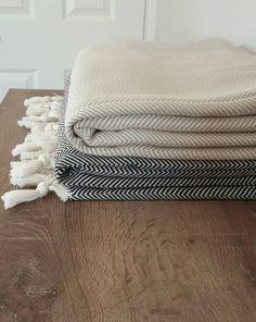 100 % Cotton blanket - Woven Throw Blanket - Herringbone Cover Blanket - Large…