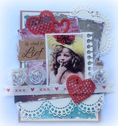 6002/0252 Noor! Design rand met harten door  Jolanda Bergmans