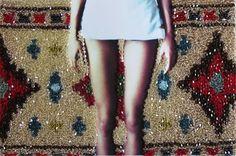Sissi Farassat (Iranian, b. Laura/Carpet II, 2011 ©Sissi Farassat/Courtesy of Edwynn Houk Gallery Sissi, Iranian, Pho, Carpet, Inspire, Gallery, Roof Rack, Blanket, Rugs