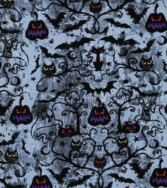 Holiday Inspirations Fabric- Halloween Fright Night