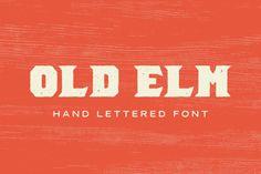 Old Elm Font by GhostlyPixels on @creativemarket