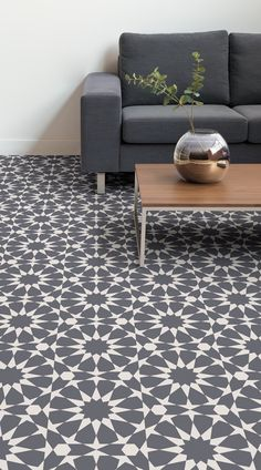 Rabat Is A Circle Pattern Vinyl Flooring Design That Features Sophisticated Geometric Of Decorative