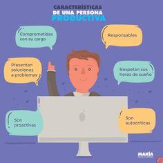 ¿Tienes lo que caracteriza a las personas productivas o no? #productividad