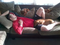 What happens when you fall asleep in a house full of Dachshunds.  I know that's right.