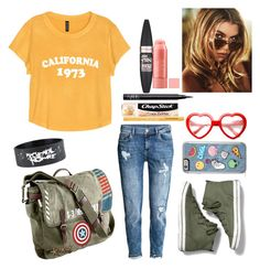 """""""I'm so funky and so cool. TEEN FUNK."""" by zahabiamankad on Polyvore featuring H&M, Keds, Marvel, NARS Cosmetics, Maybelline, Chapstick, Too Faced Cosmetics and ZeroUV"""