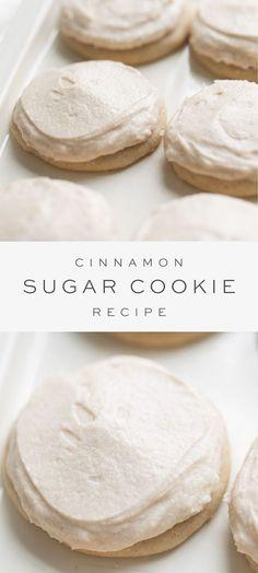 Chewy Sugar Cookie Recipe, Cinnamon Sugar Cookies, Rolled Sugar Cookies, Sugar Cookie Frosting, Yummy Cookies, Shortbread Cookies, Quick Cookies, Pan Cookies, Recipes