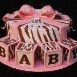 Zebra Print Baby Shower Cakes for Boys