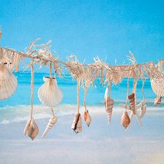 Shell Garland...craft store shells and some raffia