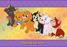 Berlioz, Toulouse, Oliver, Figaro, Marie & Dinah. The Aristocats are of course the best!