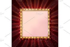 6 Square glowing frames by nastyaaroma on @Graphicsauthor