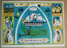 Curwen Studio Print : Alice Pattullo Illustration - Whitby Whaling