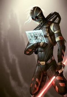 Mercenary character concept by Matt Akin, via Behance