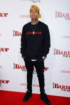 Tyga wearing  Vans x WTAPS Sk8 Hi Sneaker, Supreme Paranoid Sweater, Last Kings Bling Necklace, Rolex Day-Date II Yellow Gold Black Dial Diamond Bezel