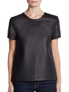 French Connection Faux Leather Top    eBay French Connection, Blouses For Women, Online Price, Tunic Tops, Best Deals, Mens Tops, Leather, Ebay, Fashion