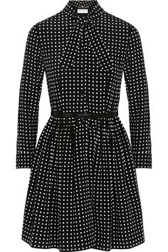 Saint Laurent polka dot dress | net-a-porter.com | Wishful thinking
