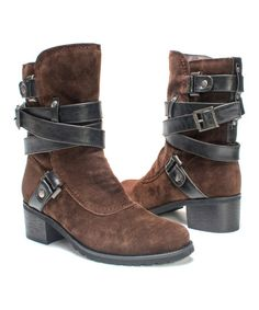 MUK LUKS Brown Sabra Boot - Women | zulily