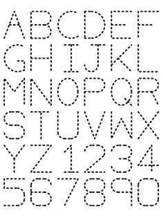 preschool printout | Traceable Alphabet Nuttin' But Preschool