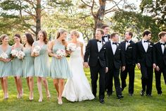 The Gorgeous Bridal Party!  I loved their dresses!