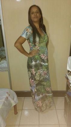 Moda Estilo 5.0 Conceição Loe Souza: Vestido Longo Florido