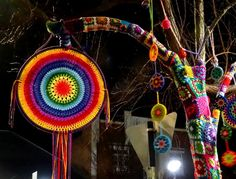 So colourful...Tree 86 by Marion Watson at Jumpers n Jazz in July 2014 at Warwick, Queensland, Australia... * <3