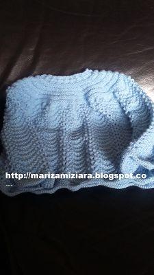 marizamiziara: Casaquinho de bebê em tricô no ponto pavão.