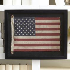 Birch Lane Small American Flag Framed Wall Art