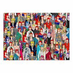 KESS InHouse Notsniw 'Where's Bowie?' Red Black Dog Place Mat, 13' x 18' *** Quickly view this special  product, click the image