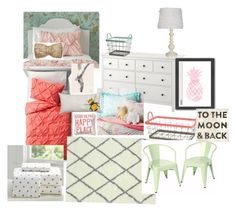 Aubrie and Emma's Room by kassi-van-vliet on Polyvore featuring interior, interiors, interior design, home, home decor, interior decorating, Pillowfort, nuLOOM, Xhilaration and PBteen