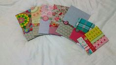 Hand made fabric notebooks