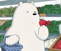 gambar cartoon, we bare bears, and apple Wallpaper Kawaii, Bear Wallpaper, Disney Wallpaper, Ice Bear We Bare Bears, We Bear, Cute Cartoon Wallpapers, Cartoon Pics, Bear Tumblr, We Bare Bears Wallpapers