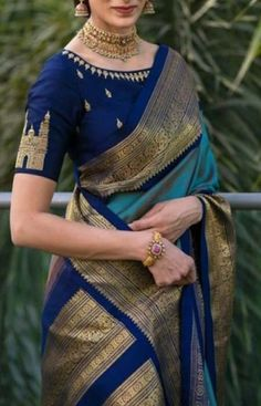 Soft silk sarees - buy the latest collection of soft silk sarees. check new and trendy wears for women. Mysore soft silk sarees and Kanjivaram soft silk sarees. Blue Silk Saree, Kanjivaram Sarees Silk, Soft Silk Sarees, Cotton Saree, Dhoti Saree, Grey Saree, Banarsi Saree, Lehenga Choli, Silk Saree Blouse Designs