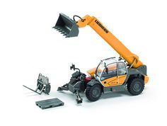 This Liebherr 435 13 Telehandler Diecast Model Lifter is Yellow and features working lift arm, material grab, stabilisers, wheels. It is made by ROS and is 1:50 scale. Comes with forks, material grab and pallet accessories....