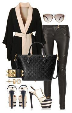 """""""Untitled #325"""" by scannedbyaaron ❤ liked on Polyvore featuring Balmain, Agent Provocateur, Gucci and Roland Mouret"""