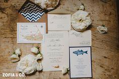 Nautical wedding stationary - #Nantucket #wedding at Sankaty Golf Club by Zofia & Co. Photography