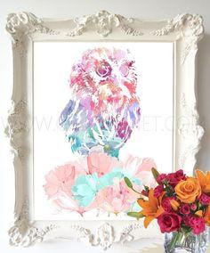 buho, buho para imprimir, ilustracion de buho, dibujos de pajaros, dubujos de animales, buho colorido para imprimir, archivo digital