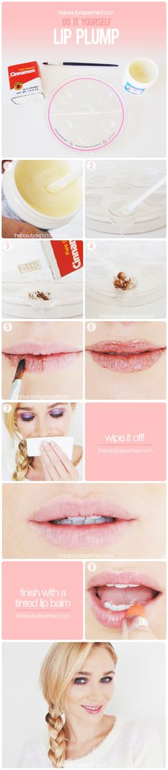 Plump up your lips at home!
