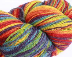 KAUNI Estonian Artistic Yarn Rainbow 8/2 skein 288 g. by linyarns