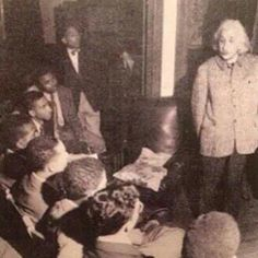 """World-renowned scientist Albert Einstein traveled to Lincoln University of Pennsylvania, where he gave a lecture to its then all-male student body. Lincoln, the first Historically Black College And University established in 1854, is the alma mater as such figures in Black History as Langston Hughes, Thurgood Marshall, and Kwame Nkrumah, the first president of Ghana. Einstein spoke of racism as """"a disease that he could not be silent about."""