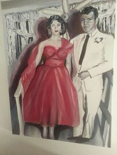 oil painting The Red Dress